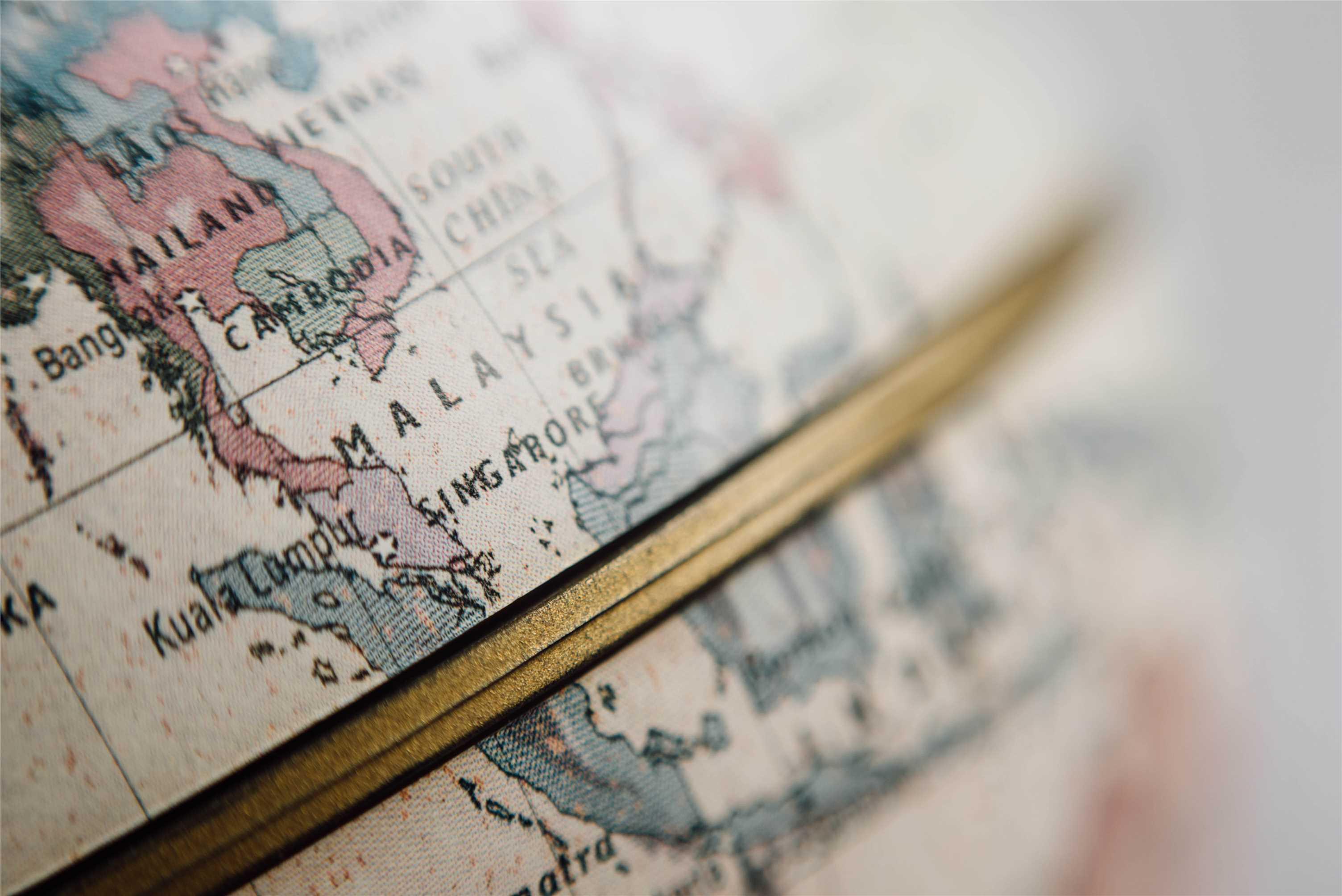 Asia in a Globe