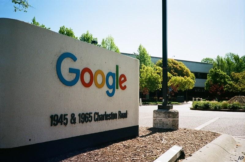Google logo outside