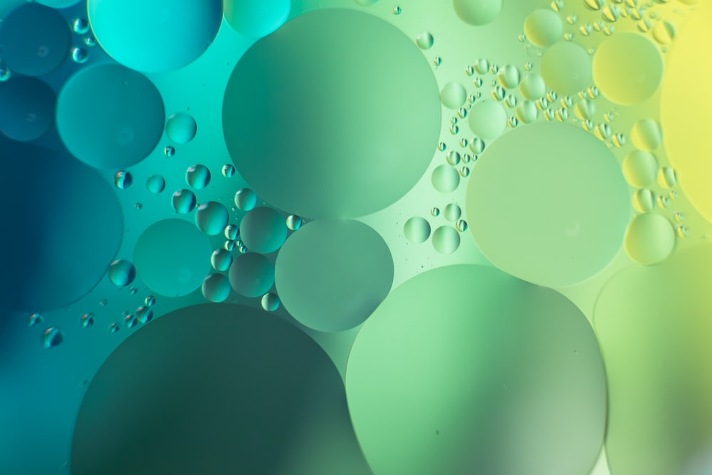 Green bubble illustration