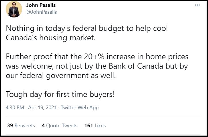 John Pasalis Tweet