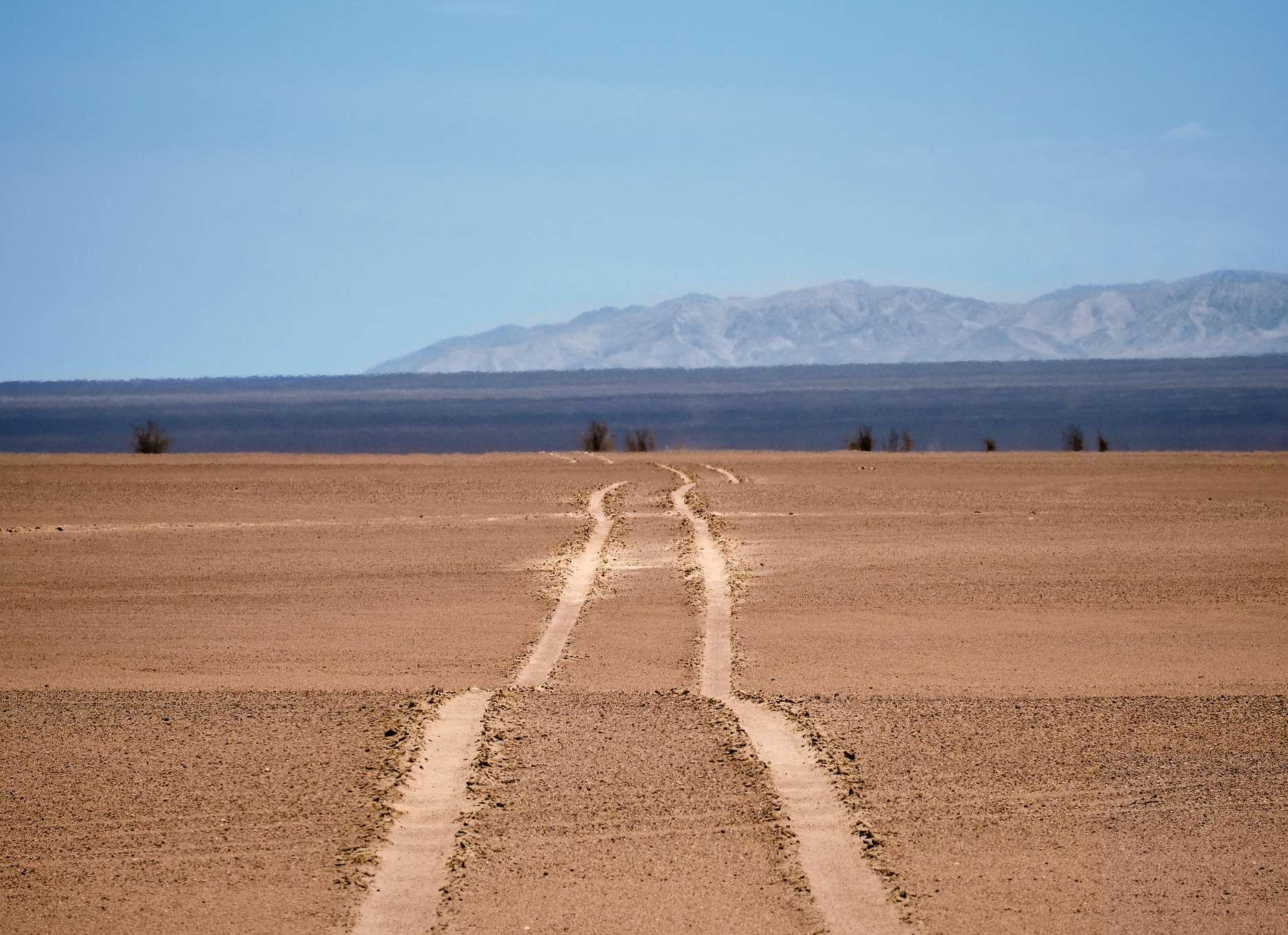 Mirage in desert