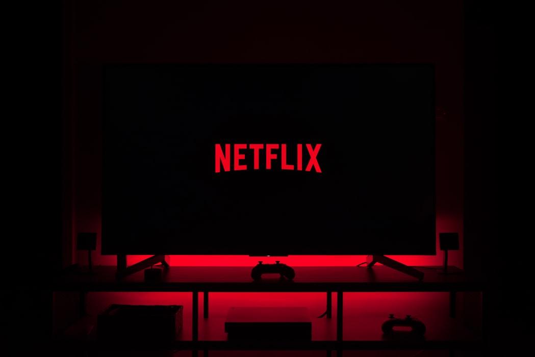 Netflix logo television set