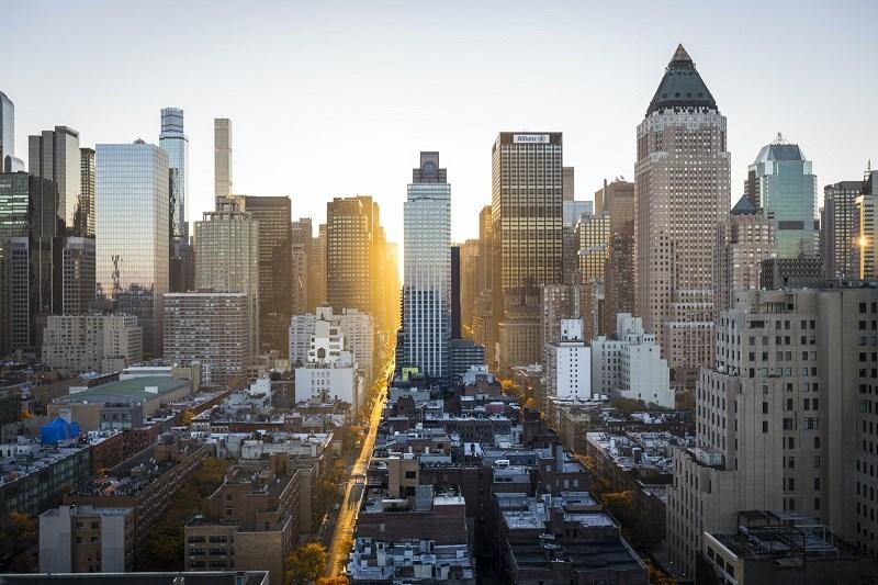 Panorama urbain de New York