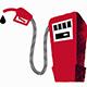 cartoon red petrol pump