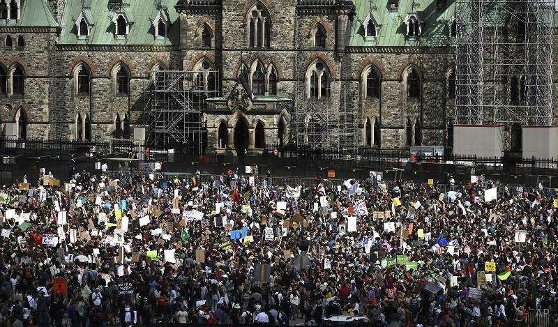 Climate protest in Ottawa