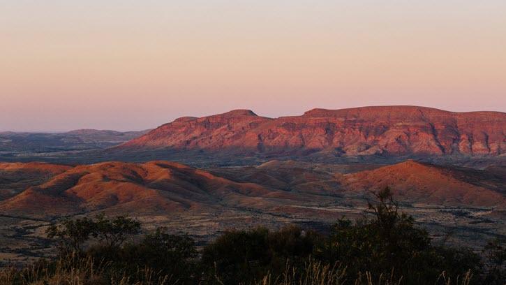 Überblick über die Pilbara Mine von Rio Tinto