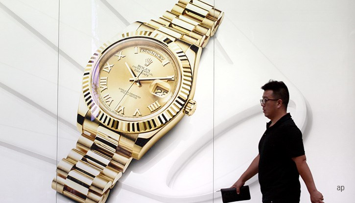 Advert for luxury watch