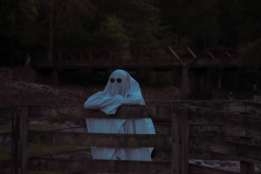 Scary Ghost on Fence