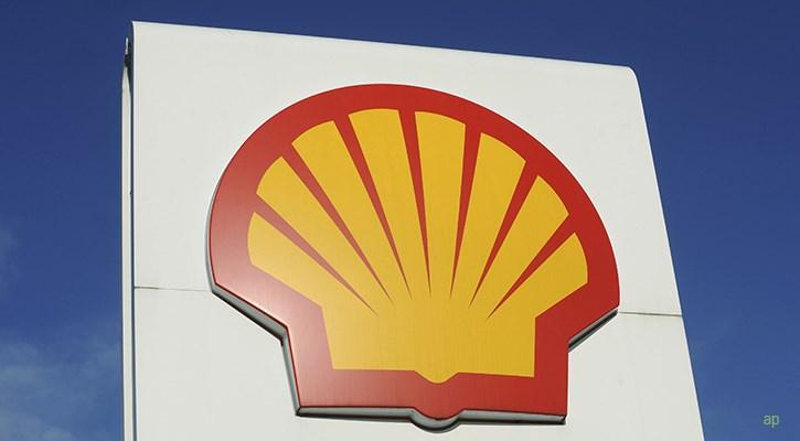 Shell logo at a petrol station