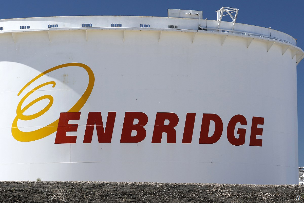 Enbridge oil tank