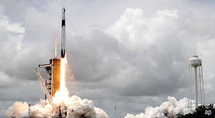 SpaceX launch in June 2021