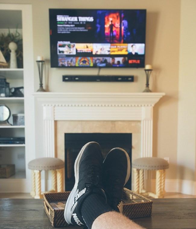 Man watching streaming service