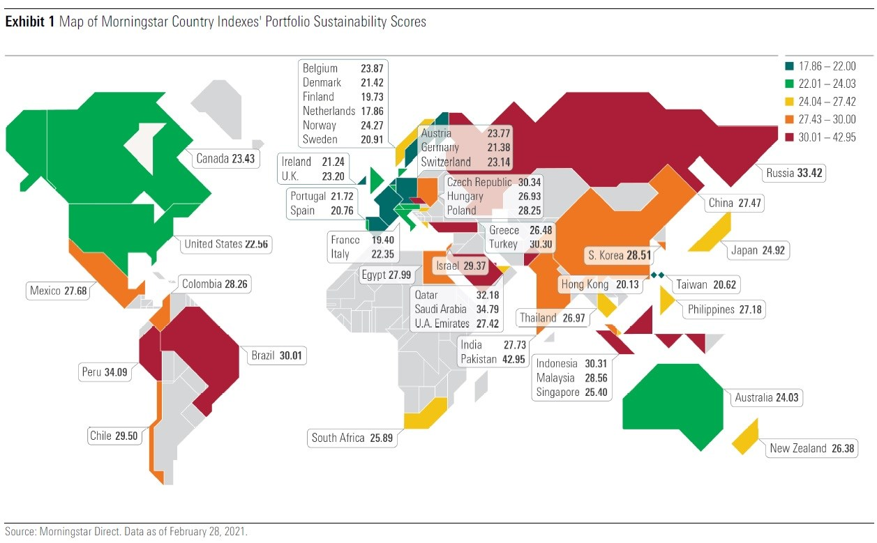 morningstar sustainability atlas map