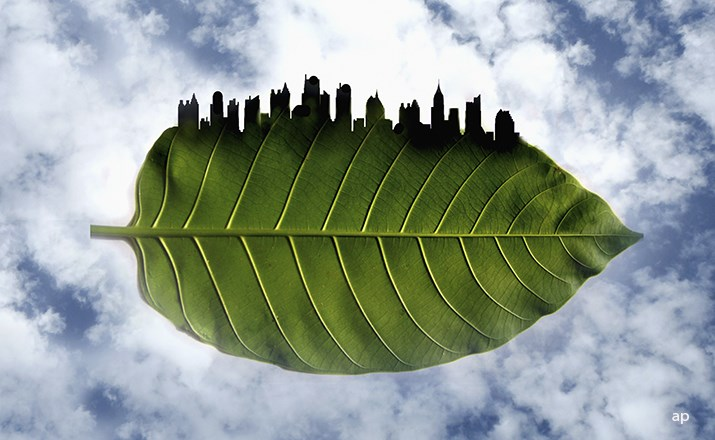 Sustainable city graphic design