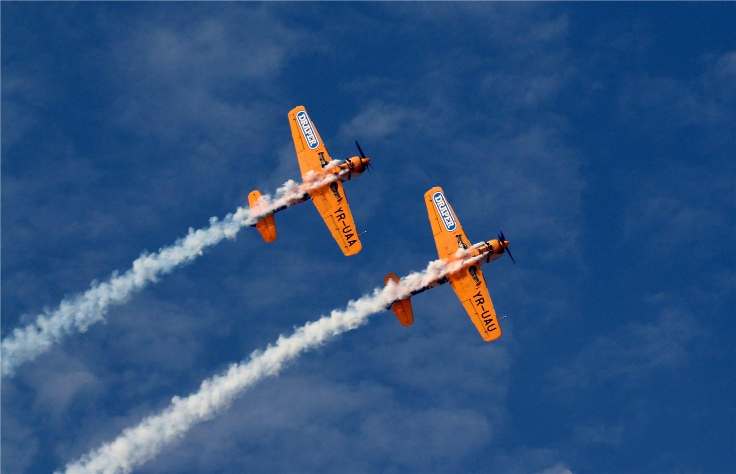 Two Orange Jets