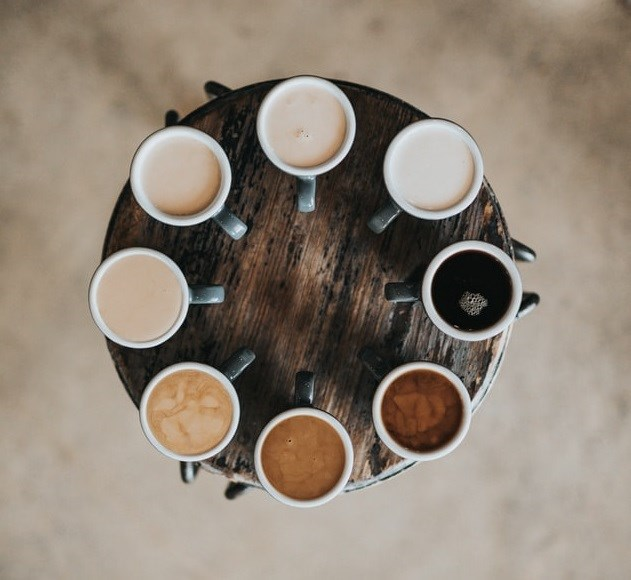 Variety of coffees