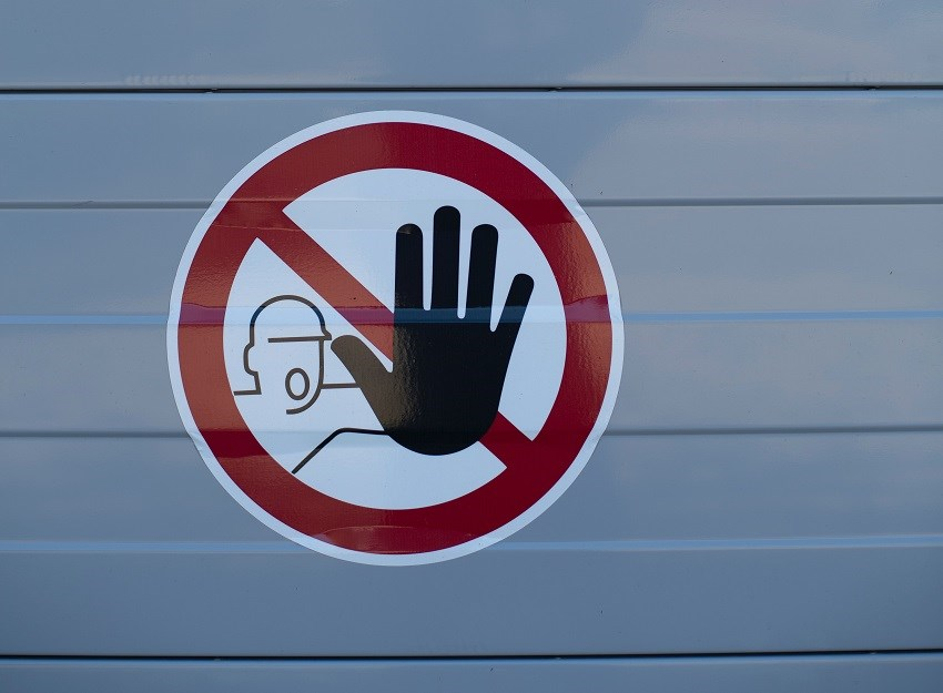 warning sign hand gesture