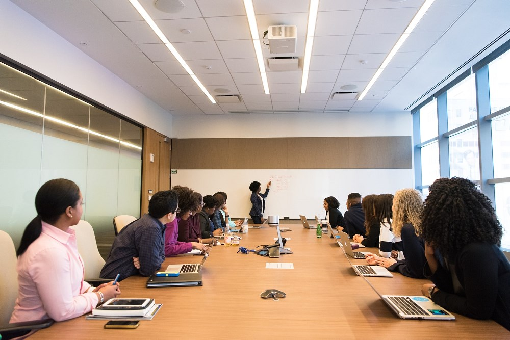 Women business leaders in boardroom