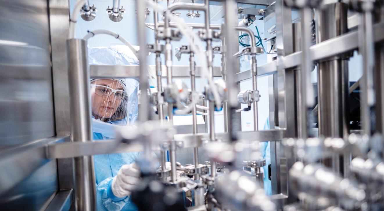 Bild vom neuen Biontech Werk in Marburg