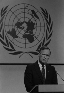 """President George Bush Sr. speaks at the UN Conference on Environment and Development"""