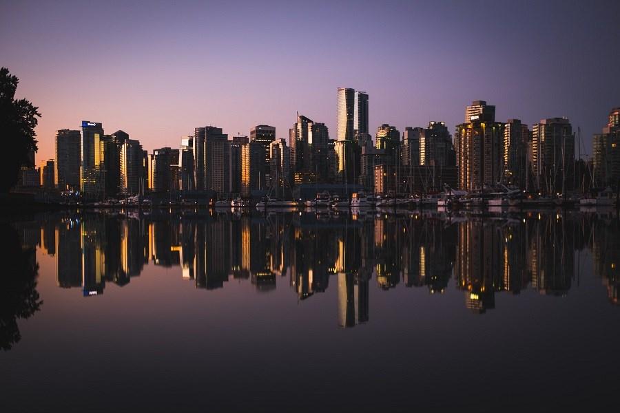 Dark Vancouver skyline