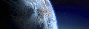 globe from outer space