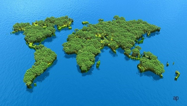 map of world as trees