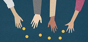 money and hands