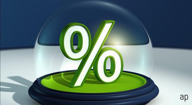 Glaskugel gross mit Prozentzeichen