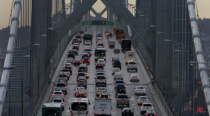 traffic jam in the US