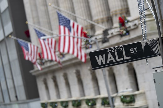 Wall street new york US flag AP 20245519893083 520