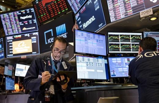 Wall Street Trading Floor NYSE Trader