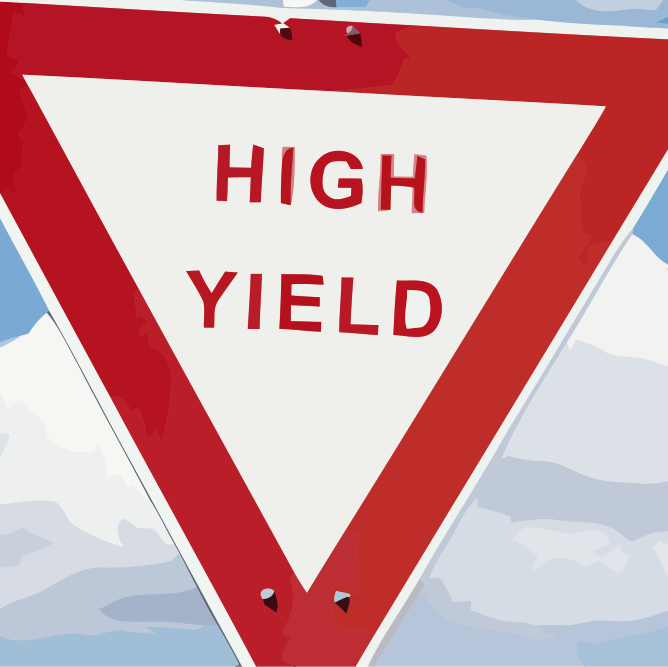 High yield bonds vectorized vierkant