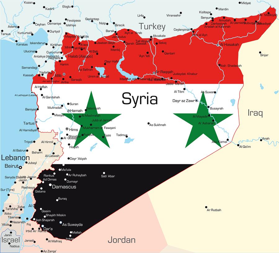 Siria, mercati con l'elmetto