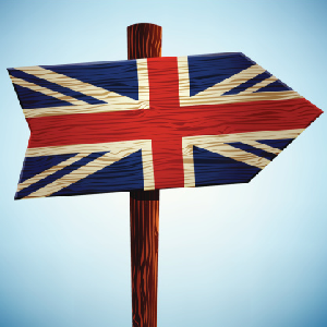 United kingdom great britain flag arrow