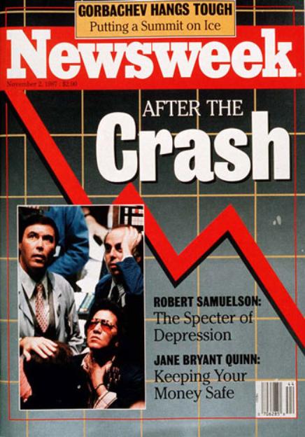 1987 crash newsweek cover