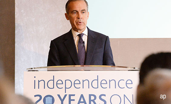Mark Carney has indicated rates will rise over the coming few years.