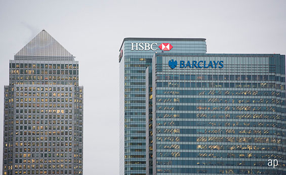 Canary Wharf, Barclays, HSBC, Lloyds, RBS, UK stocks, banks