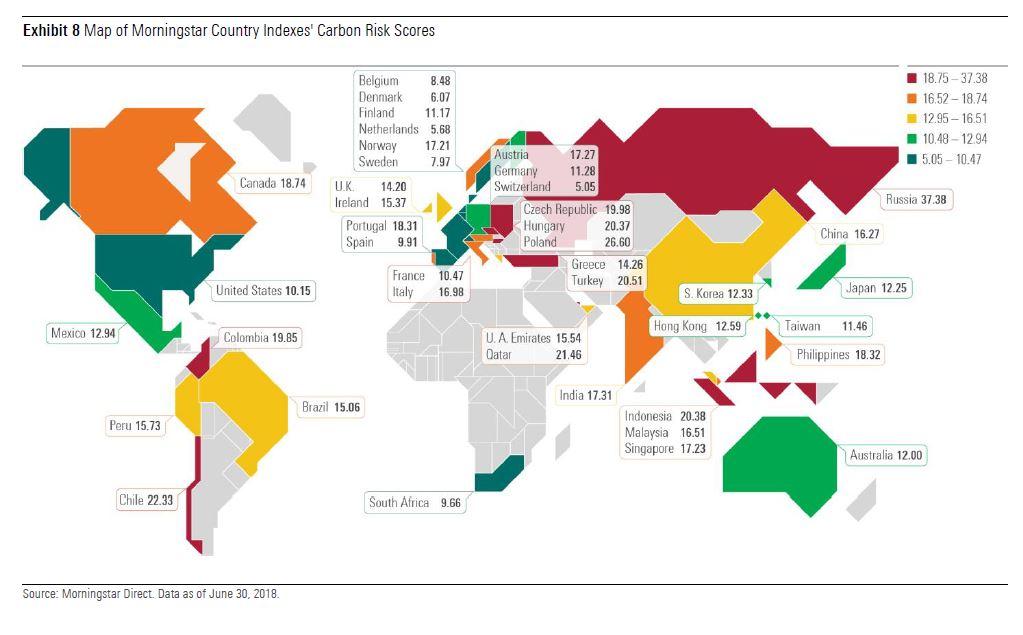 Morningstar Sustainability Atlas: carbon risk ottobre 2018