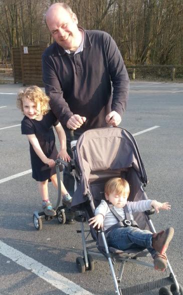 Trevor Osborne with his children