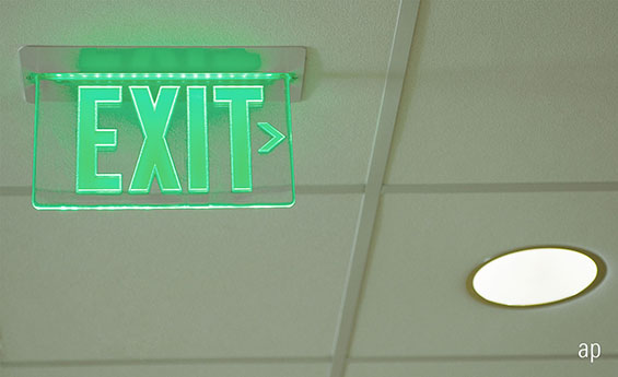 exit sign, fund managers, star fund manager, neil woodford, richard buxton, fund flows