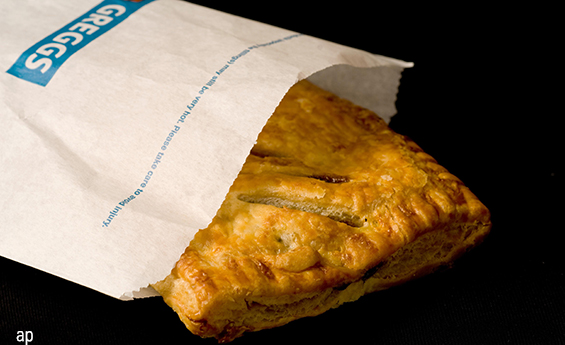 Greggs pastry maker bakery stock share price vege sausage roll sales