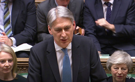 Philip Hammond delivers the Spring Statement