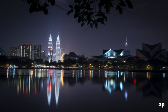 Malaysia skyline buildings emerging markets volatility election result