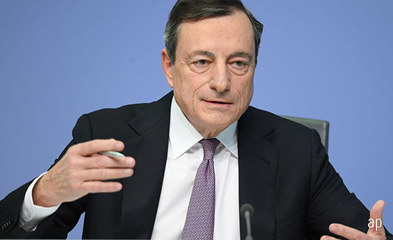 Mario Draghi European Central Bank President ECB interest rates EU