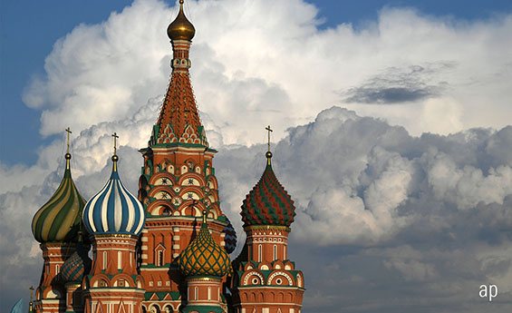 Moscow buildings, Russian stock market, investment trusts