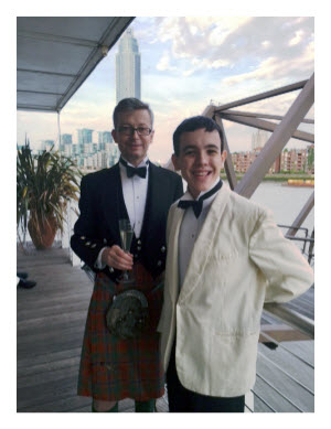Stewart Munro and his son Hector