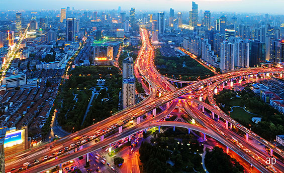 Big data is driving investment decisions including data on traffic cars in Shanghai China