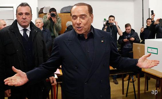 Silvio Berlusconi Italian general election politics Europe eurozone EU