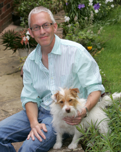 Private investor Steve Markus with his dog Sid